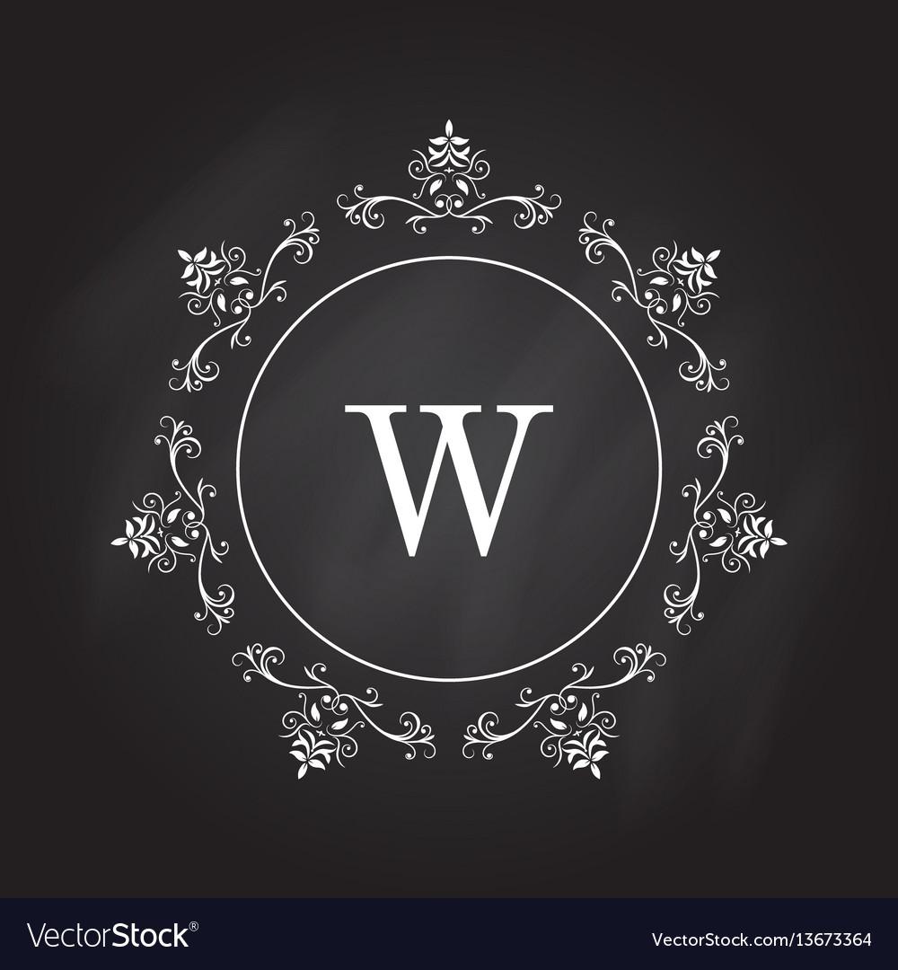 Monogram logo template identity design for shop vector image
