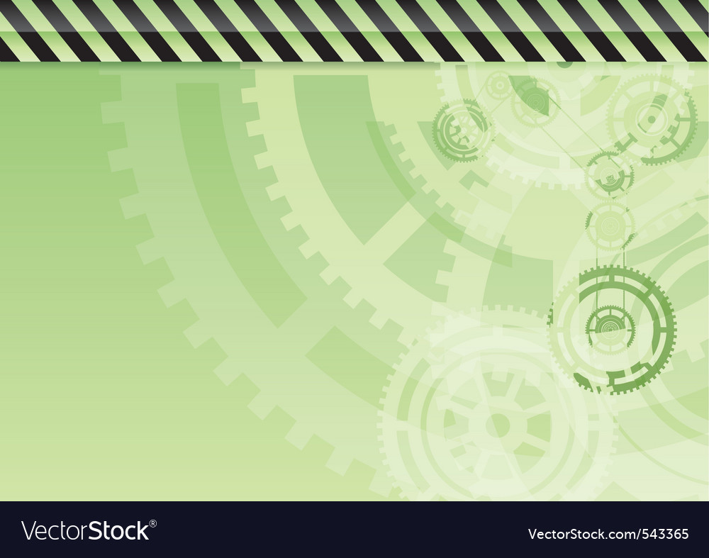 Green industrial background with teeth vector image