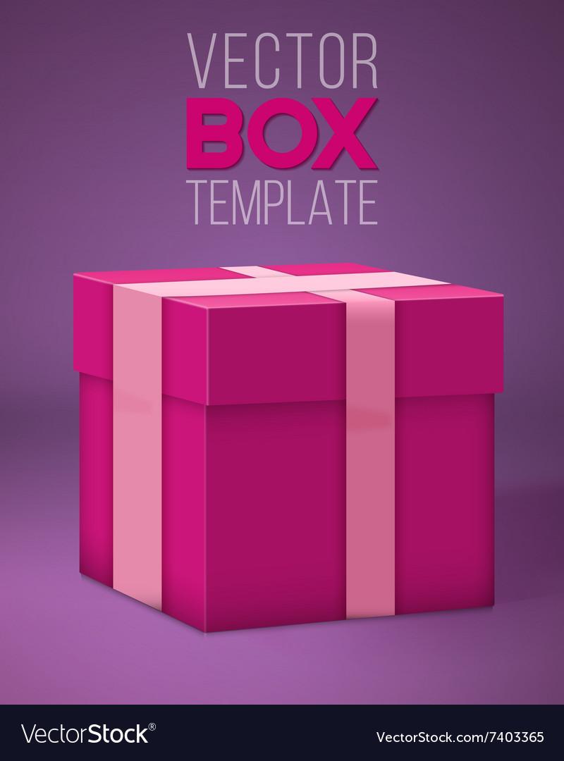 Realistic 3d present gift box cartoon style vector image realistic 3d present gift box cartoon style vector image negle Image collections