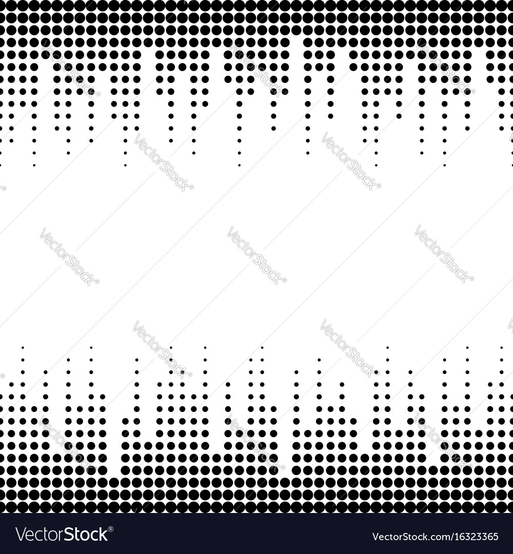 Sound waves seamless halftone pattern vector image