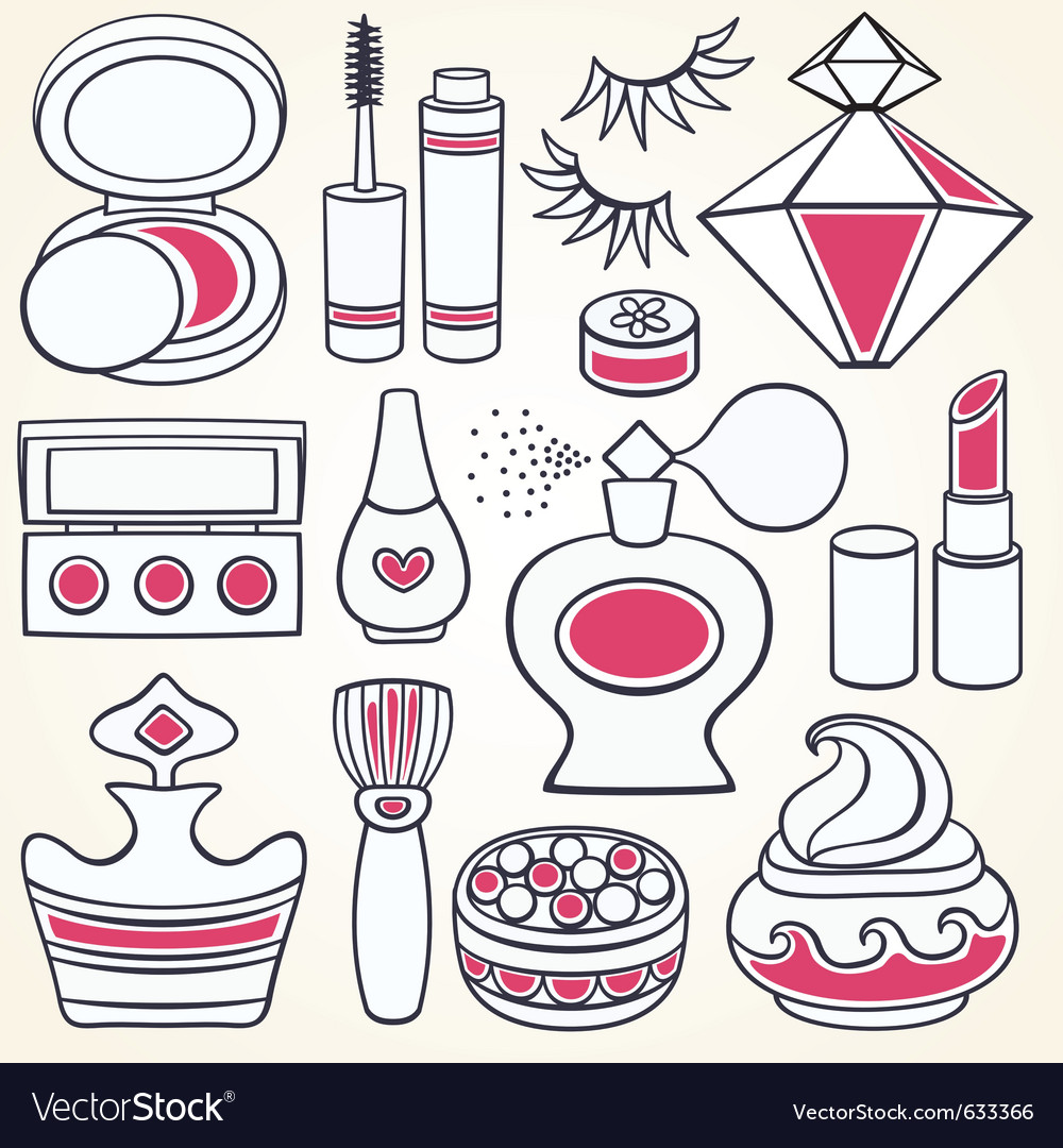 Make up - set vector image