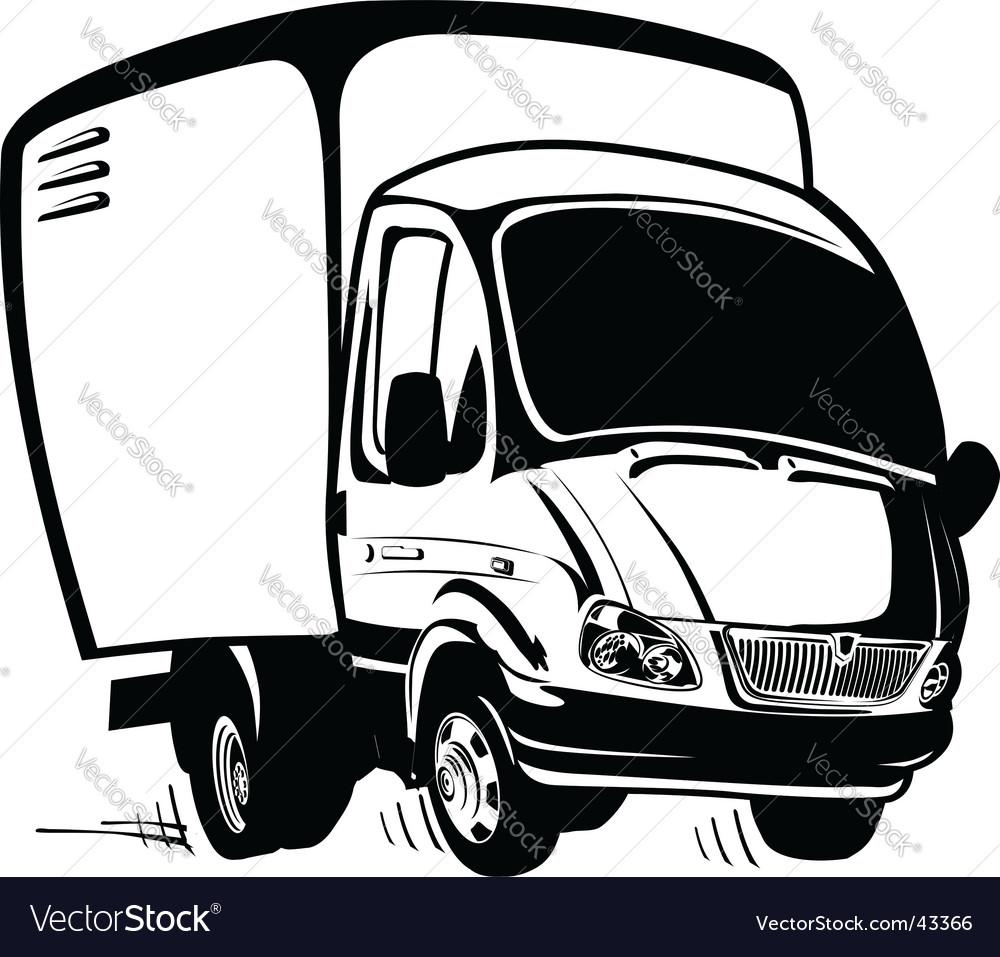cartoon cargo truck royalty free vector image vectorstock