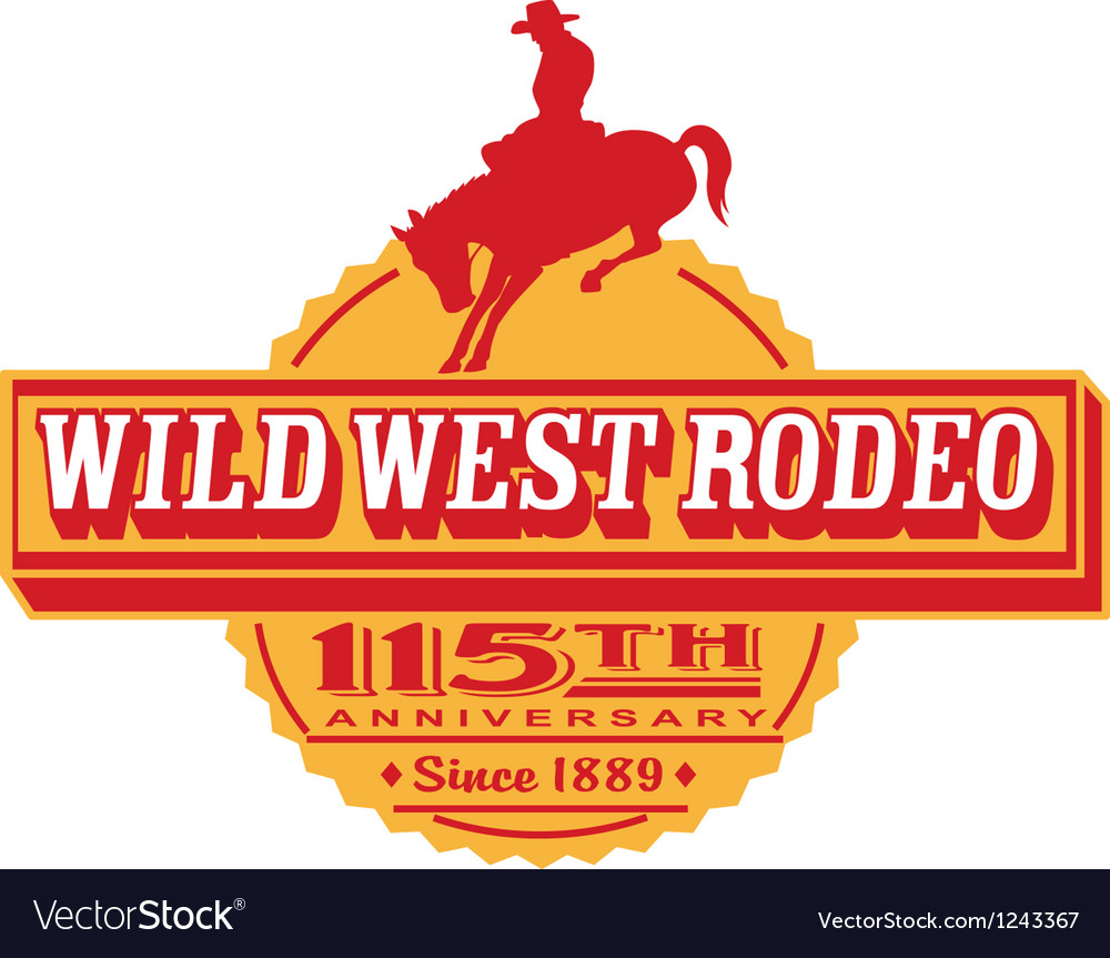 Wild west Rodeo poster vector image