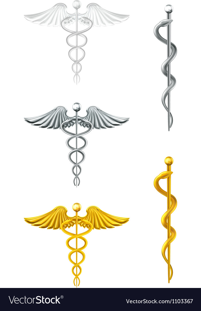 Caduceus set vector image