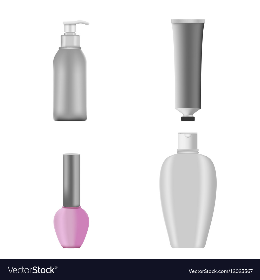 Cosmetic Mockup Products Package Set vector image