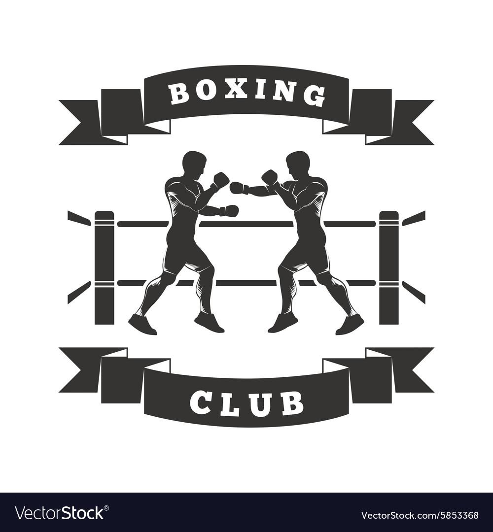 Boxing club logo royalty free vector image vectorstock for Boxing club salonais