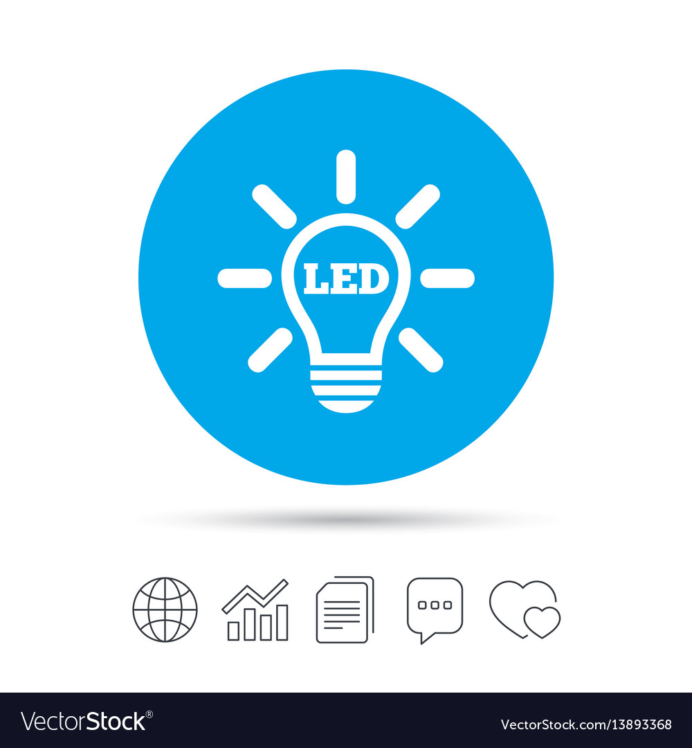 Led light lamp icon energy symbol royalty free vector image led light lamp icon energy symbol vector image biocorpaavc Images