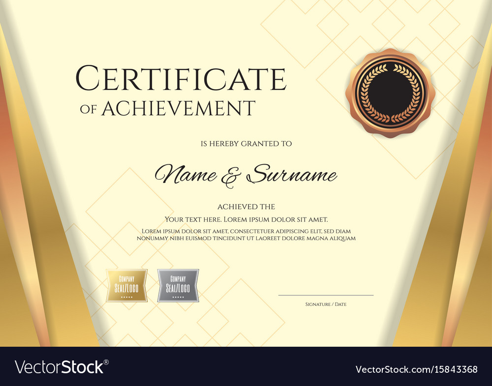 Baby birth certificate template email sign up sheet template word baby certificate maker supplier contract template name address luxury certificate template with elegant golden vector 15843368 yelopaper Image collections