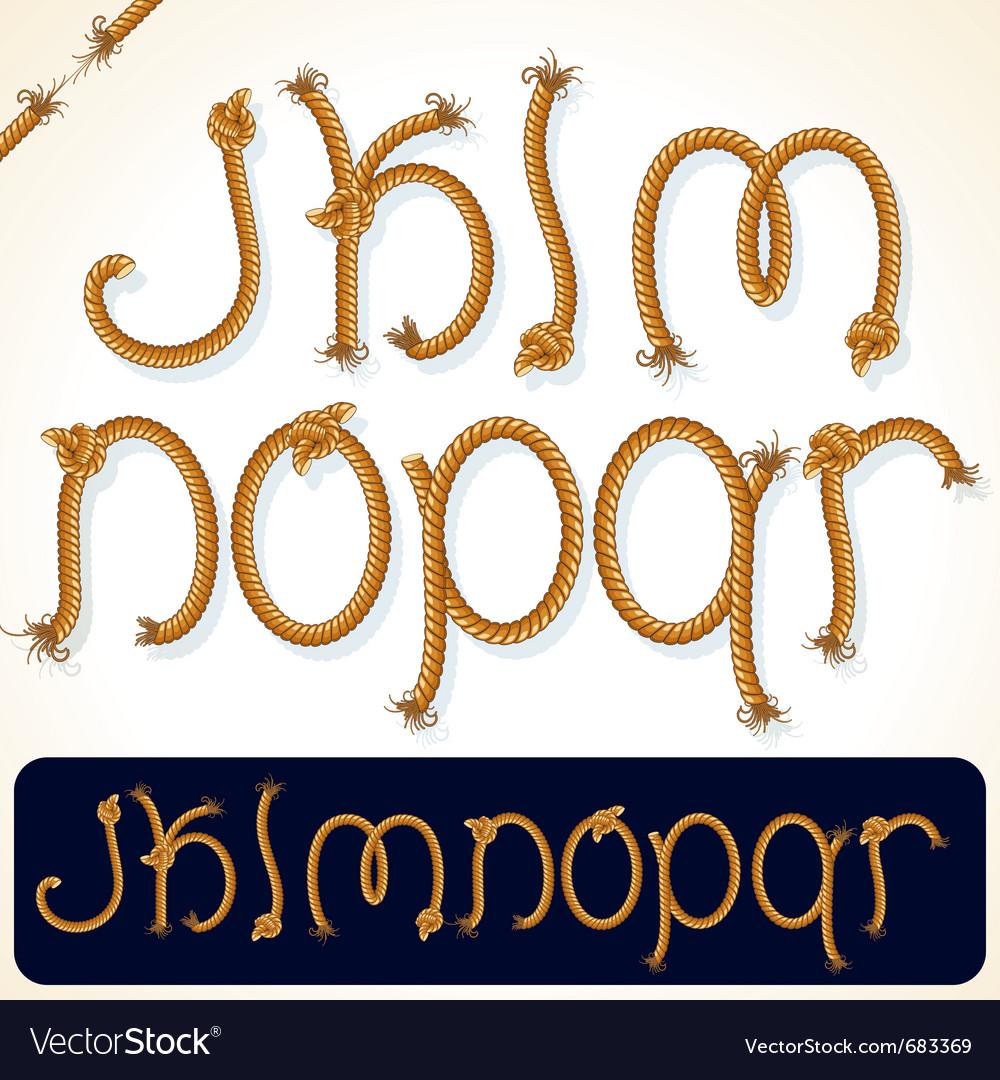 Rope alphabet 2 vector image