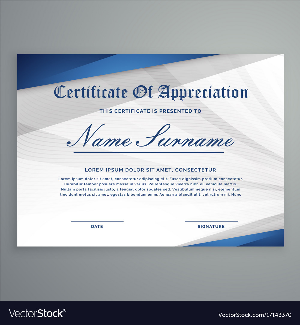Creative Certificate Template With Modern Pattern Vector Image