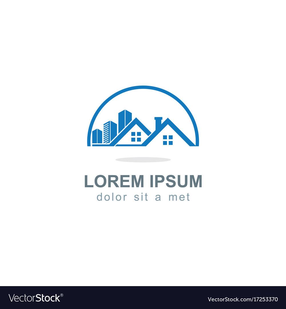 Realty house company logo vector image