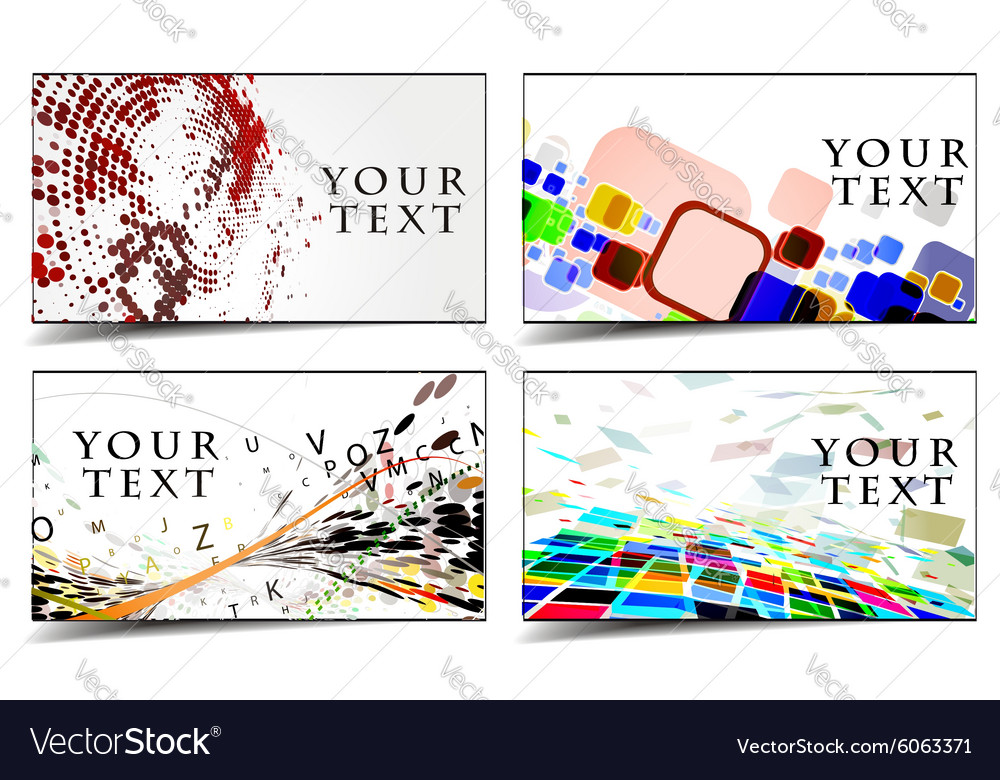 Business gift cards design Royalty Free Vector Image