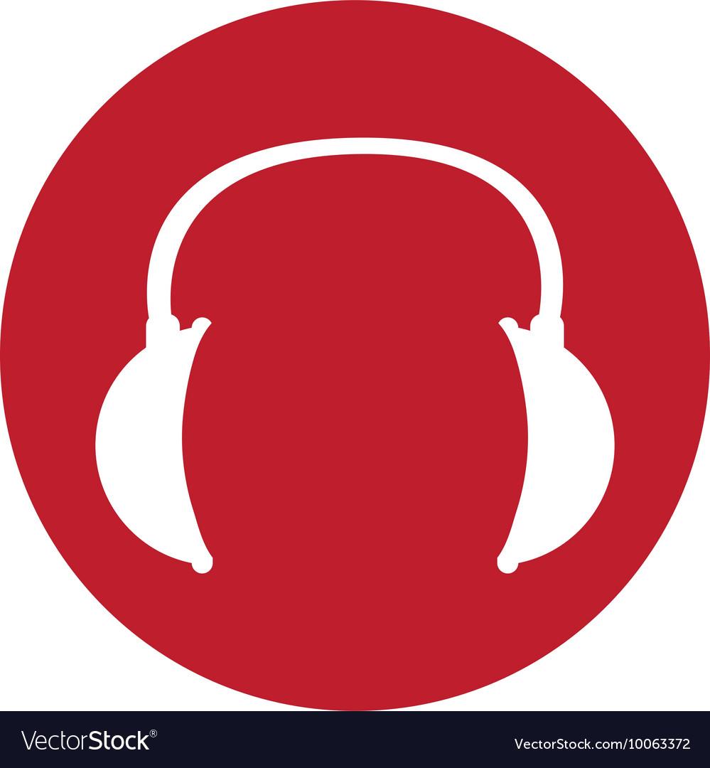 Headphone sign icon vector image