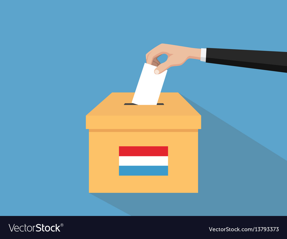 Luxembourg election vote concept with vector image