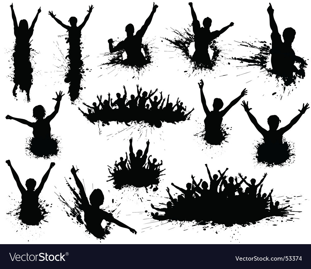 Celebration grunge vector image