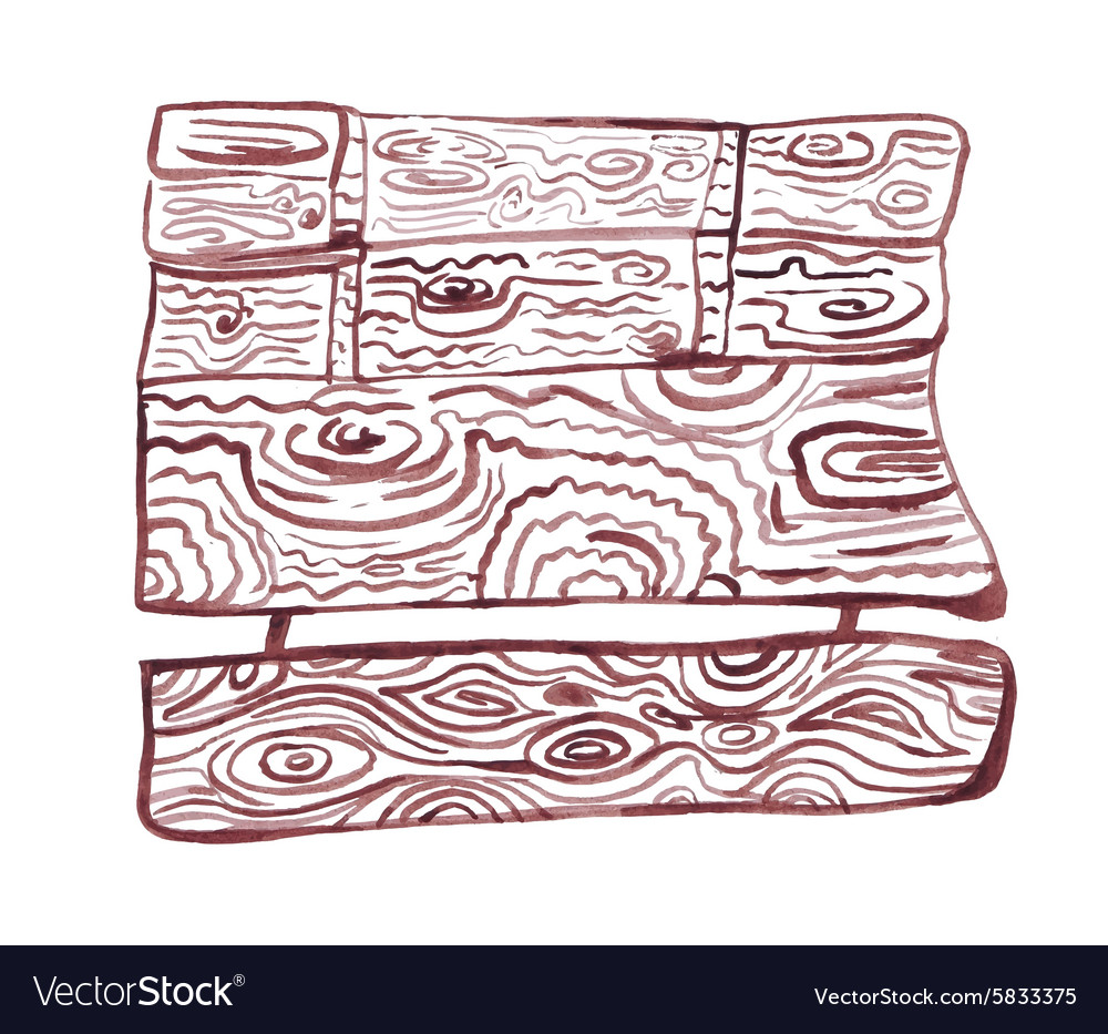 Drawn up by the hands of a board vector image