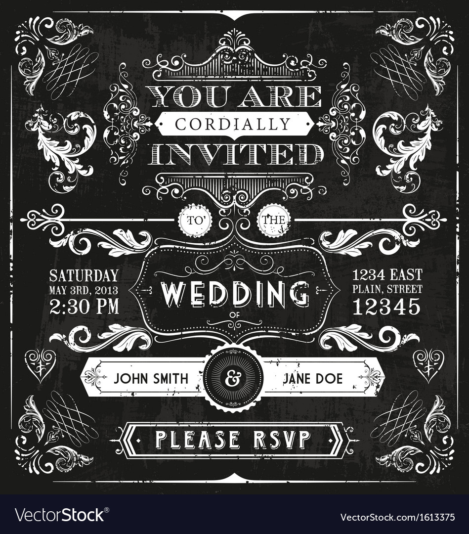 Vintage wedding invitation royalty free vector image vintage wedding invitation vector image stopboris Images