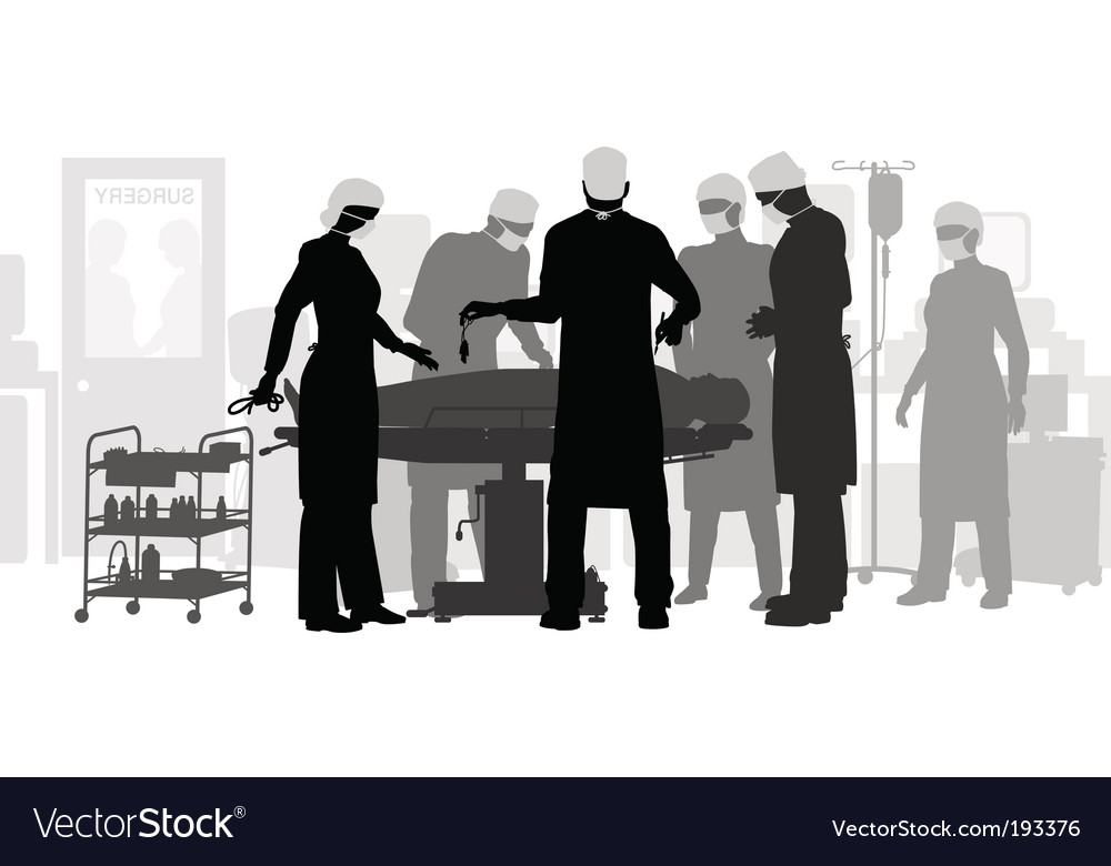 Surgery vector image