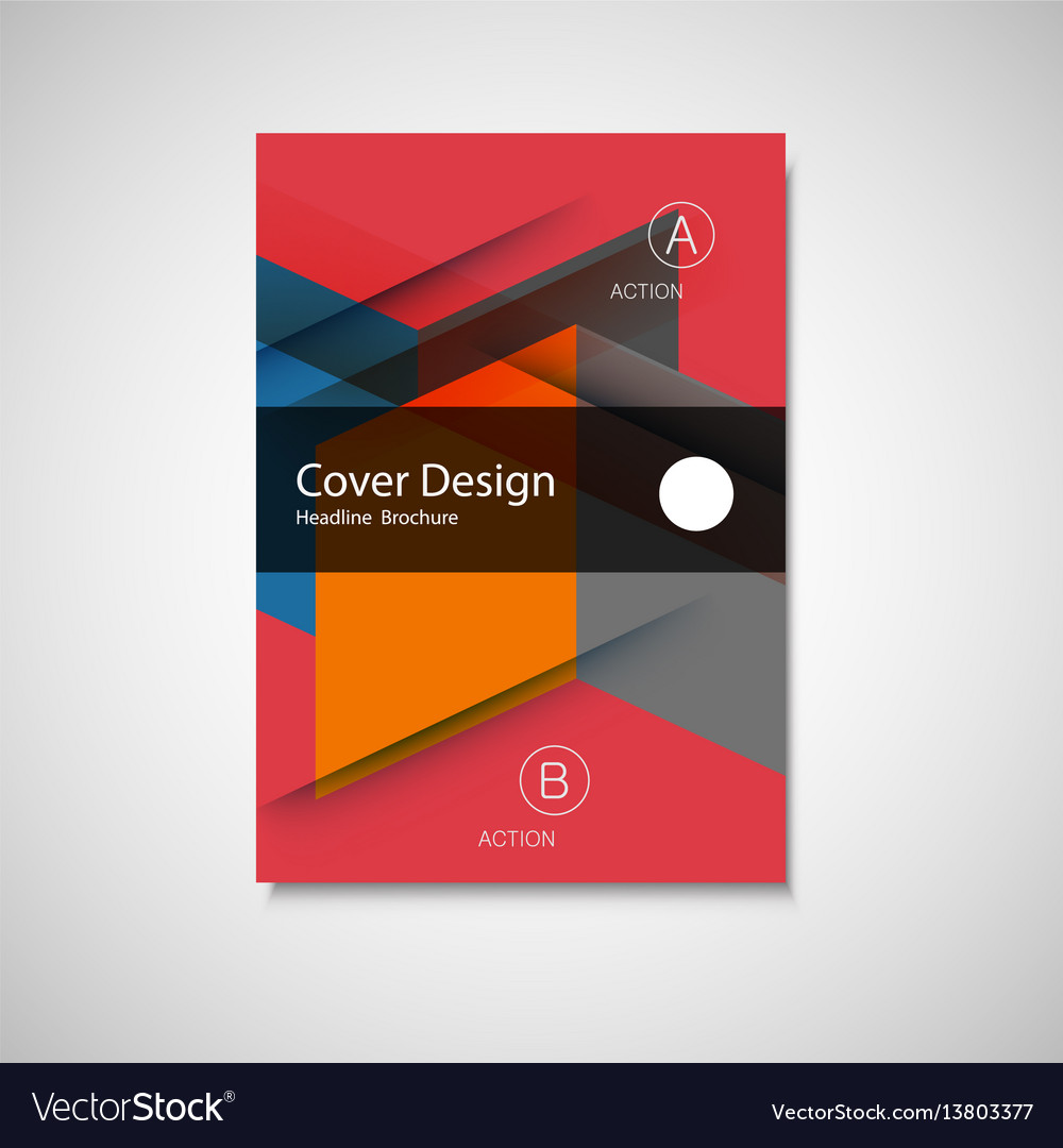 Cover design for annual report catalog or vector image