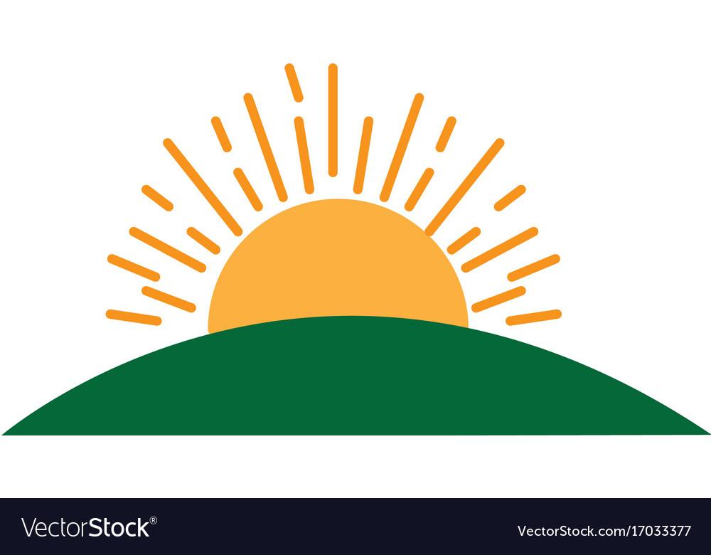 sun field green grass landscape image royalty free vector rh vectorstock com Free Cartoon Sun Free Vector Silhouettes