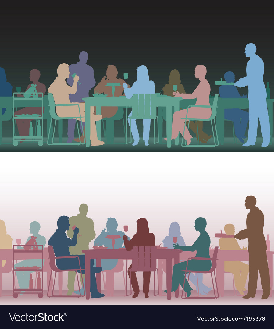 Toned restaurant Vector Image