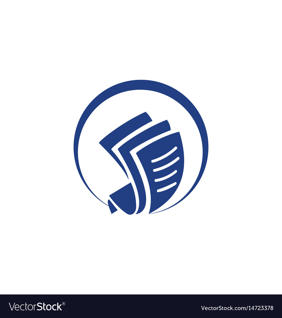 Document paper round logo vector image