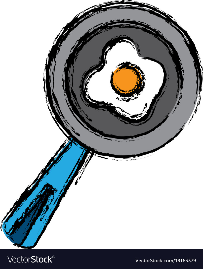Skillet and turner kitchen utensils Royalty Free Vector