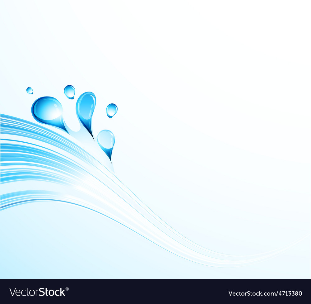 Abstract water wave with bubbles vector image