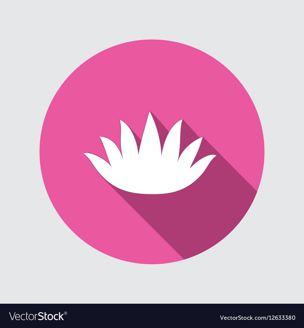 Lily flower icons water lilies floral symbol vector image izmirmasajfo Choice Image
