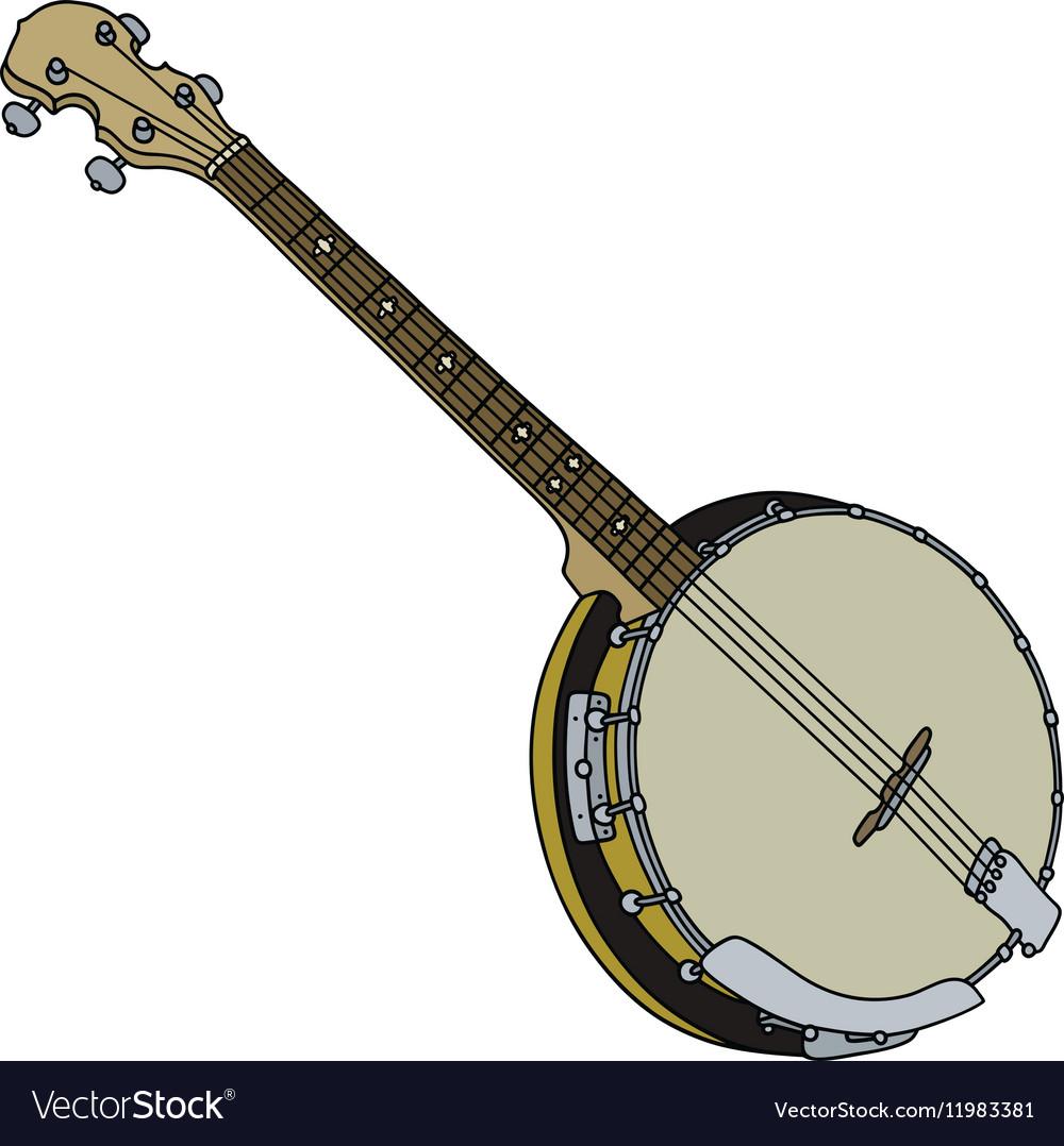 Four strings banjo vector image