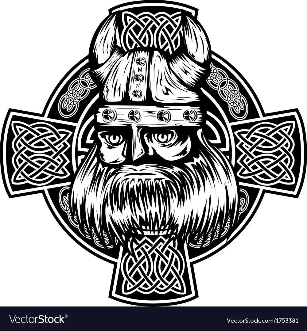 Viking and celtic cross royalty free vector image viking and celtic cross vector image voltagebd Images