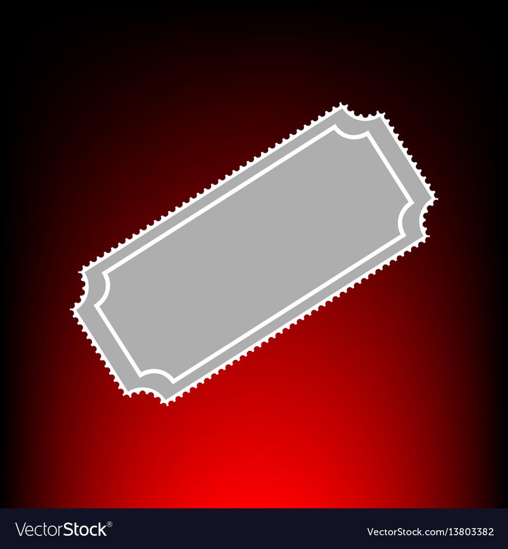 Ticket sign postage stamp or old vector image