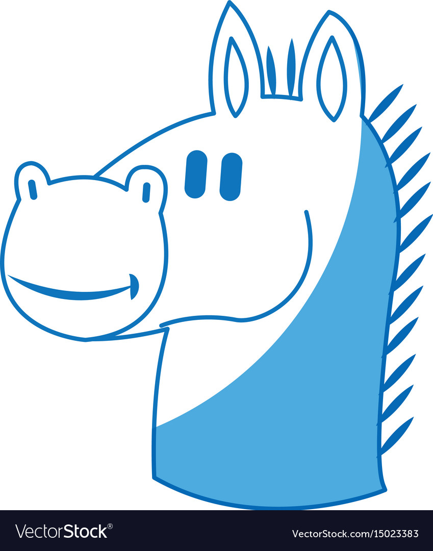 Chess horse piece business strategy symbol vector image