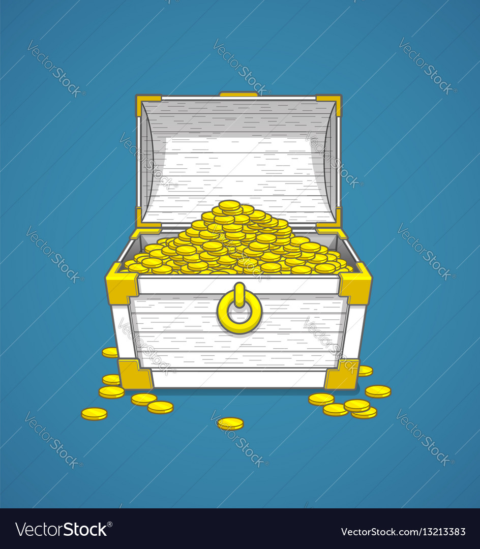 Pirates trunk chest full vector image