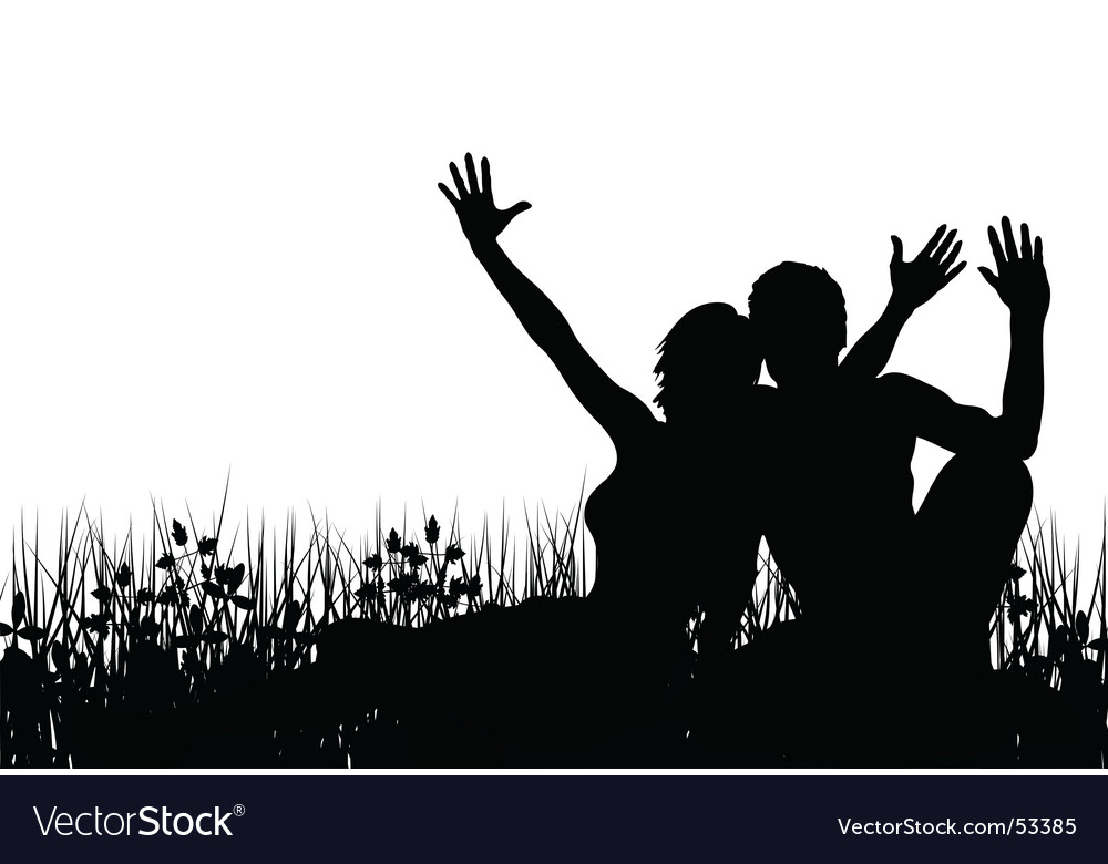 Grass people vector image