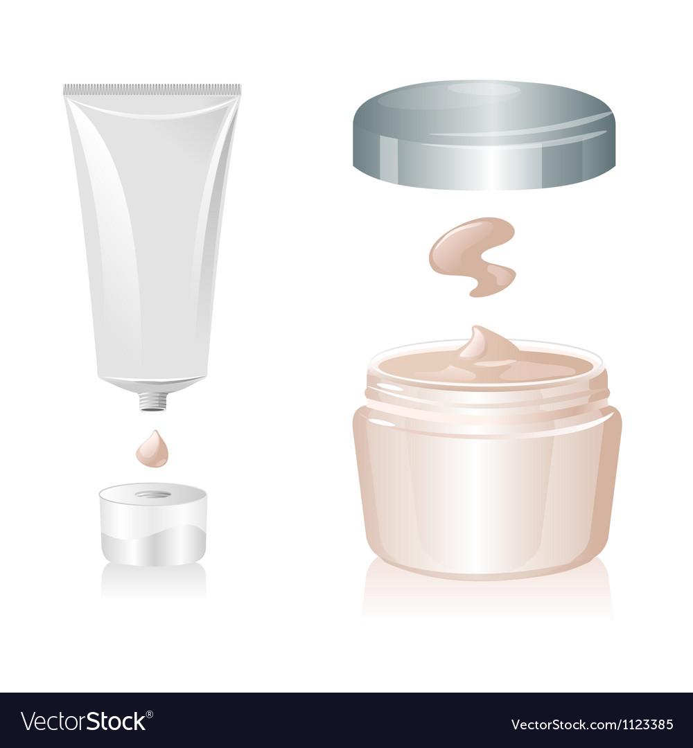 Cream tube isolated on white background vector image