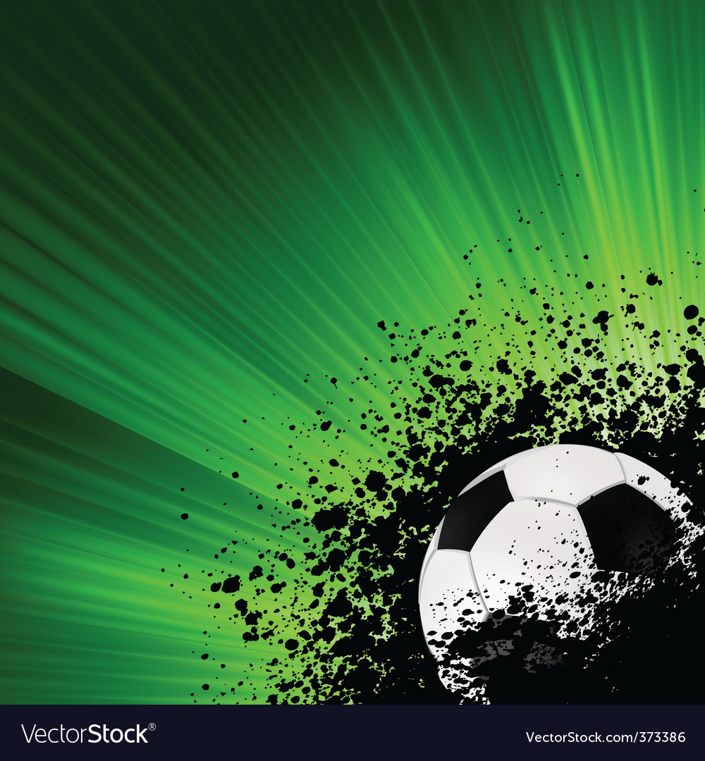 Grunge burst football poster  vector image
