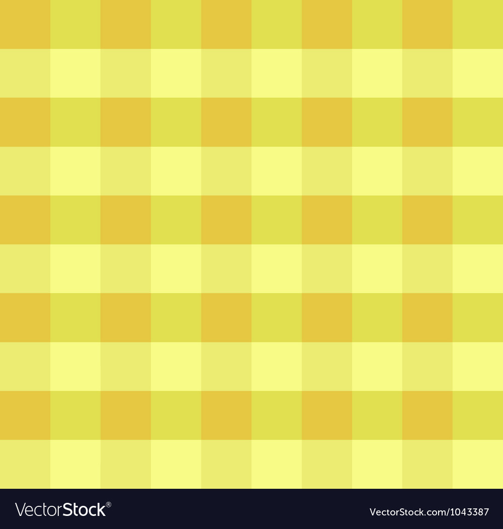 Yellow checkered cloth vector image