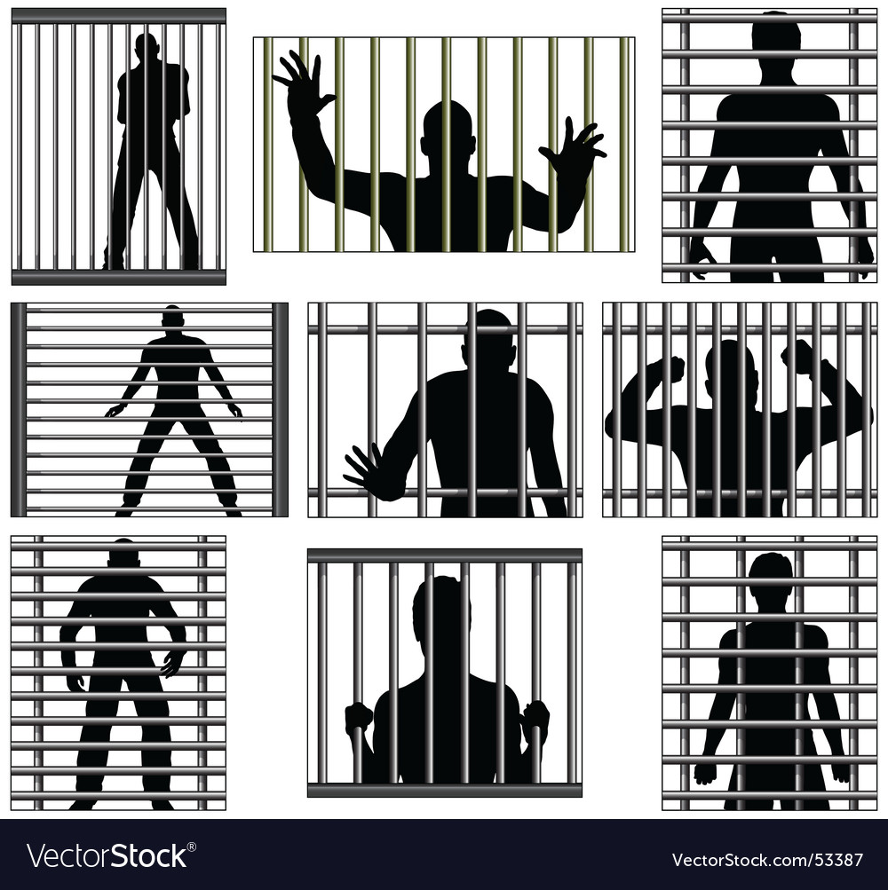 Incarcerated vector image