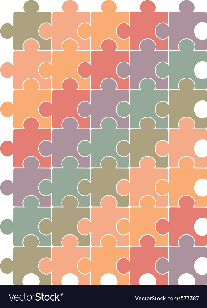 Puzzle pattern vector image