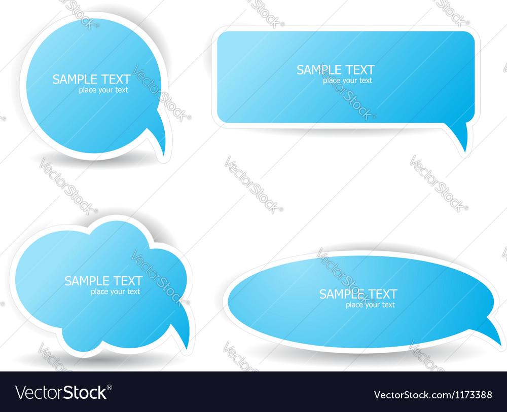 Blue speech bubbles vector image