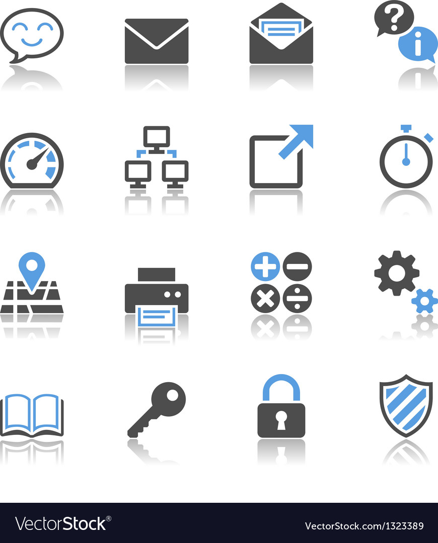 Application icons reflection vector image