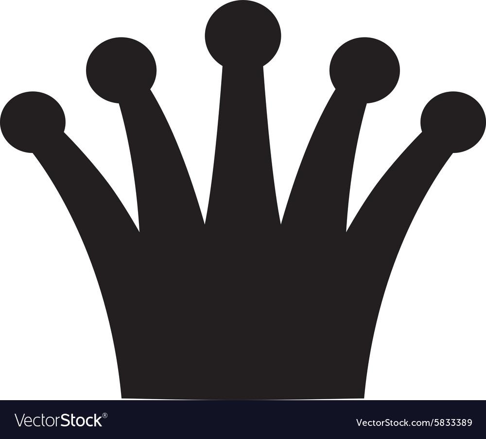 Crown black and white logo royal symbol vector image
