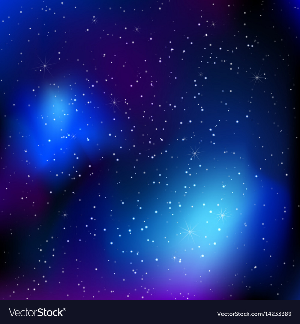 Sky background with stars vector image