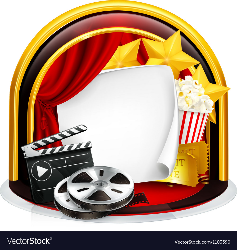 Movie frame vector image