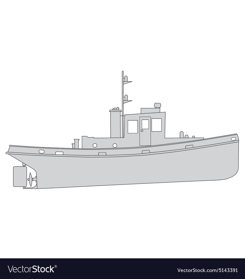 Tugboat vector image