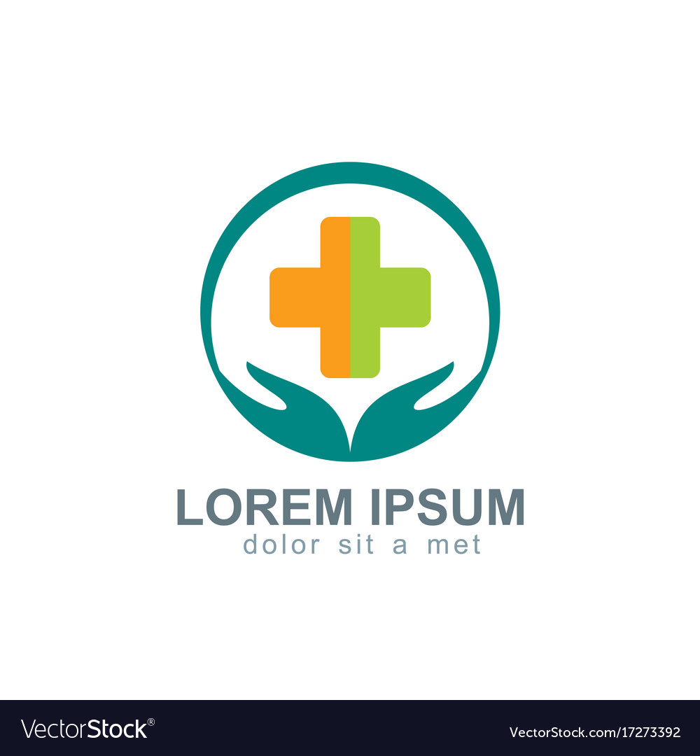 Health care medical logo vector image