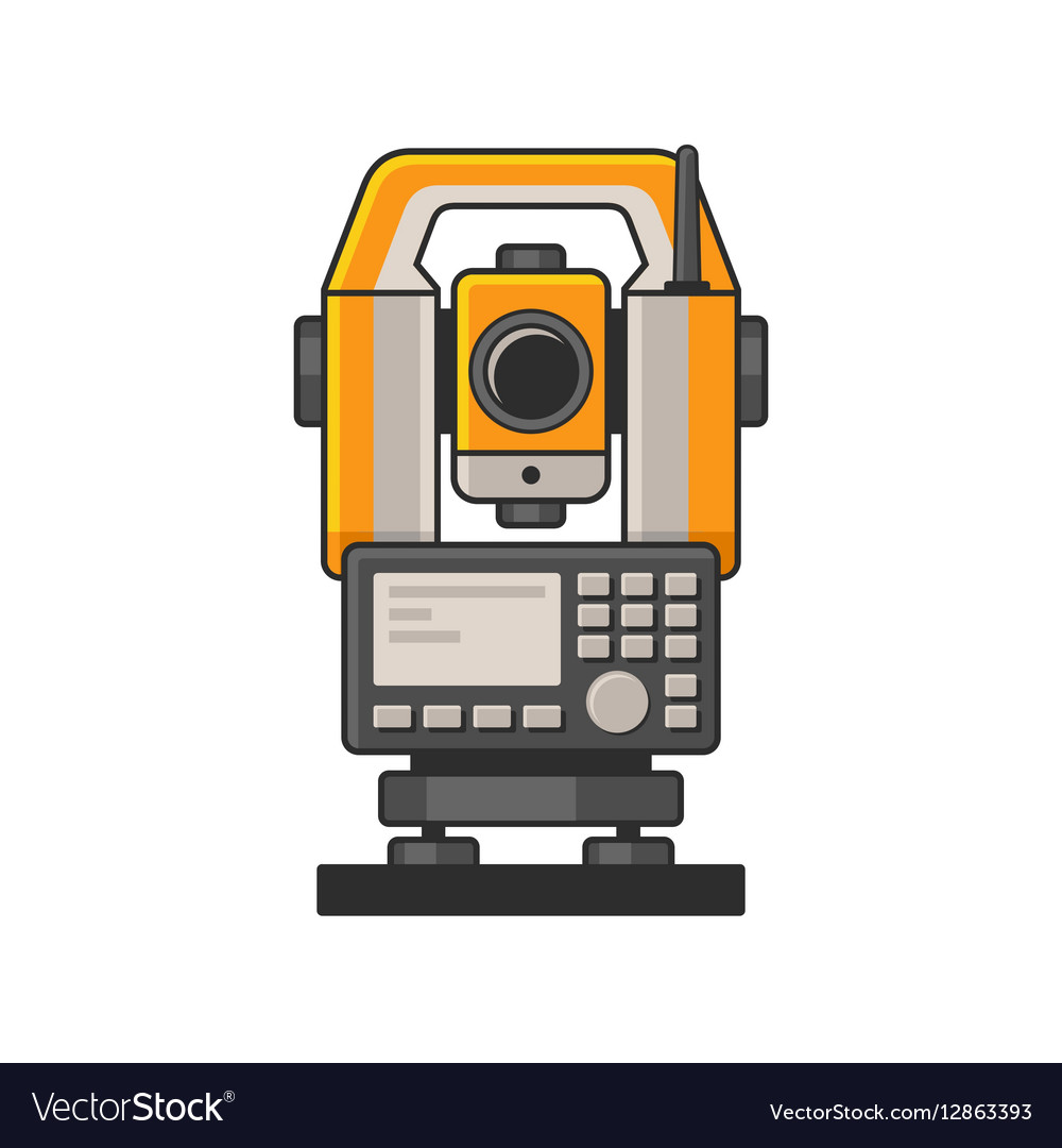 Geodetic Optical Measuring Laser Level Devices vector image