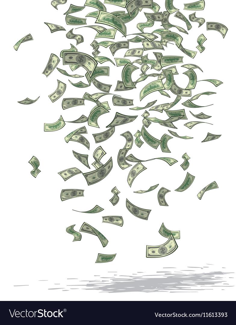 Money Rain vector image