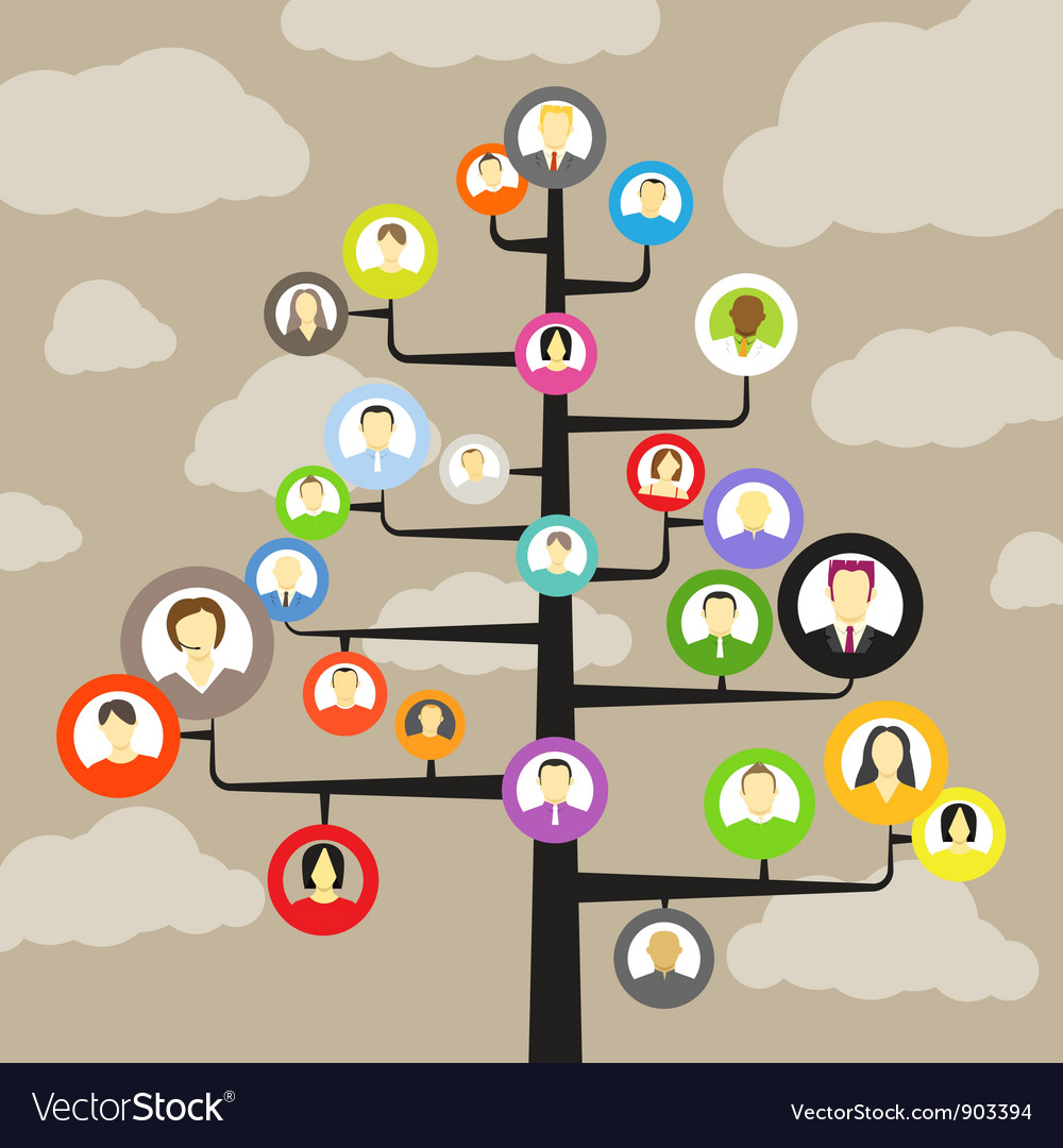 Abstract community tree vector image